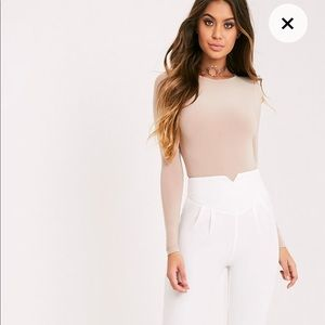 Prettylittlething Elenor high waisted tapered pant